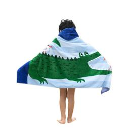 Bavilk Children's Beach, Bath Swimming Towel Vibrant Crocodi