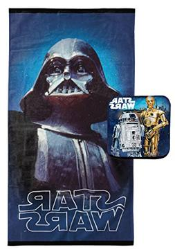 Jay Franco Star Wars Classic Vader 2 Piece Cotton Bath Towel