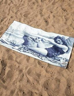 Victorian Trading Co Cheeky Girl Beach Towel Black and White