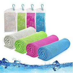 Cooling Towel,Vinsco 4 Pack Cool Towels Microfiber Chilly Ic