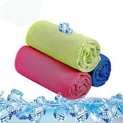 KUYOU Sport Cooling Towel 3 Pack Microfiber Quick Dry Towel