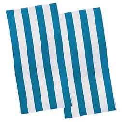 Copa Cabana Stripe Cotton Beach Towel, Over Size Luxury 30 I