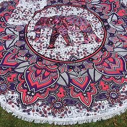 Colors Of Rajasthan COR's Elephnt Ombray Mandala Tapestry Hi