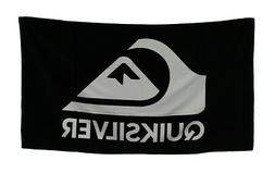 Zeckos Cotton Beach Towels Black & White Quiksilver Logo Bea