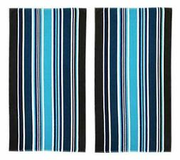 COTTON CRAFT-2 Pack-Dobby Double Woven Velour Beach Towel 39