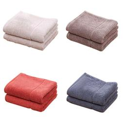 Home Cotton Bath Towels  Solid Soft Travel Beach Gym Thick F