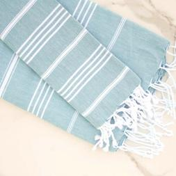 Cotton Cacala  Turkish Bath and Hand Towel Set of Two Beach