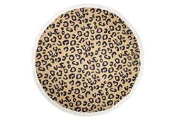 Van Hannah Large Round Beach Towel Mat Cotton Blend Terry Cl