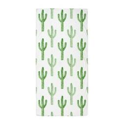 CafePress Cute Watercolor Cactus Pattern Beach Towel