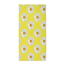 CafePress Daisy Flower Pattern Yellow Beach Towel