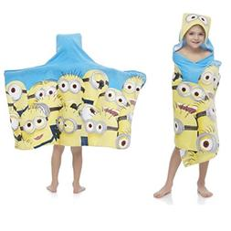 Universal Despicable Me Minions Kids Hooded Bath / Beach Tow
