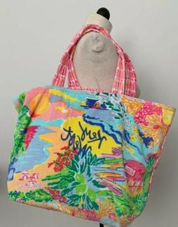 Lilly Pulitzer Destination Tote KEY WEST Beach Towel Terry C