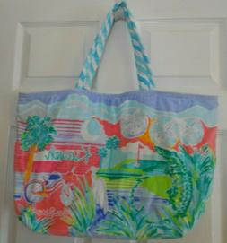 Lilly Pulitzer Destination Tote~KIAWAH~Terry Cloth Bag~Beach