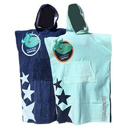 TEAM MAGNUS Hooded Beach Towel for Kids in Quality 360gsm Co