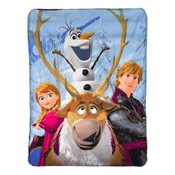 "Frozen, ""Out in The Cold"" Fleece Throw Blanket, 46"" x 60"""