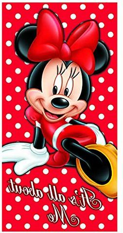Disney Minnie Mouse Its All About Me Beach Towel 28x58