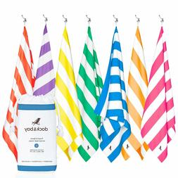 Dock & Bay Microfiber Beach Towel and Pouch For Swim, Pool,