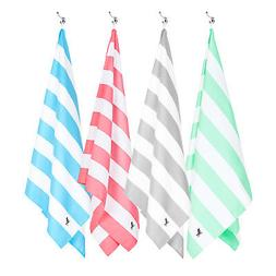 Dock & Bay Quick Dry Beach Towels, Compact & Sand Free - 4 c