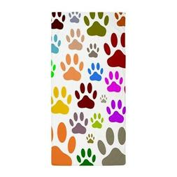 CafePress Dog Paw Prints All Over Beach Towel