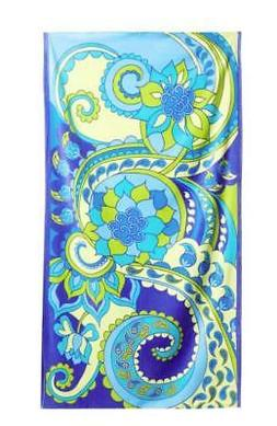 "DOHLER USA Oversized Beach Towel 40"" x 70"" BOTEH Paisley Cot"