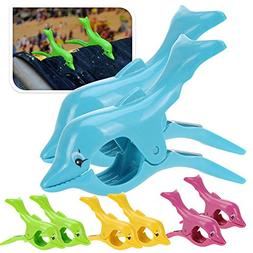 Kicode Dolphin Beach Towel Clips Stay Neatly and Firmly in P