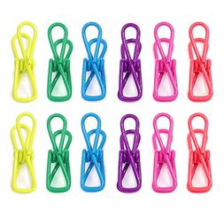 6 Color Durable Steel Wire Clothespins Chip Bag Clip Documen