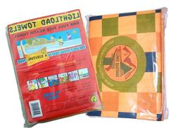 Lightload Full Size Beach Towel Non Compressed 5 oz Super Ab