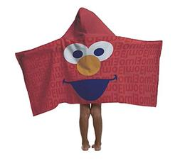 Elmo Hooded Cotton Kids Towel: Bath, Pool, Beach - Sesame St