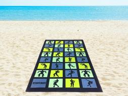 """Epic Games Fortnite Boogie Dance Moves Beach Towel 28"""" x 58"""