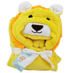 extra soft lion hooded towel