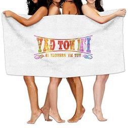 Jcqz Towel 31.50in X 51.18in Family Big Bath Towel Beach Bla