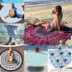 Fashion Bohemian Mandala Round Hippie Beach Mat Bikini Cover