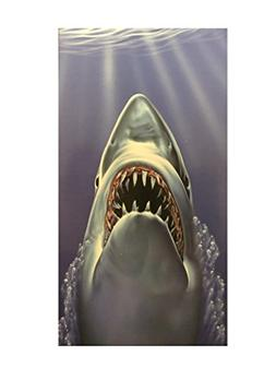 30x60 Fiber Reactive Shark Beach Towel