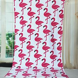 100 Percent Cotton Large Flamingo Beach Towel, Pool Towel -S