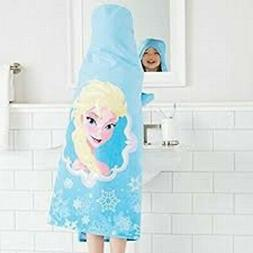 Disney Frozen Elsa Hooded Towel Wrap for Swimming Pool, Bath