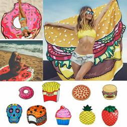 Fun Fruit Food 3D Pattern Printing Pool Shower Beach Towel S