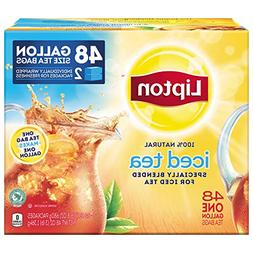 Lipton Gallon-Sized Black Iced Tea Bags, Unsweetened, 48 ct