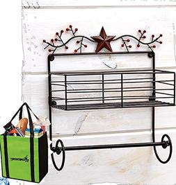 Gift Included- Decorative Stars & Berries Country Style Kitc