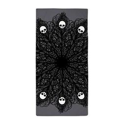 CafePress Gothic Black Peacock Feather Beach Towel