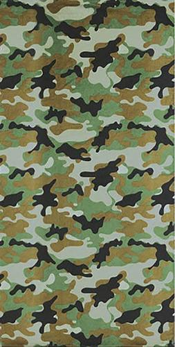 "GREEN Camouflage Beach Towel - 30"" x 60"" - Velour - Made In"