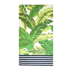 Green Navy Blue Maui Palm 40 x 70 Inch Microfiber Ultra Thin