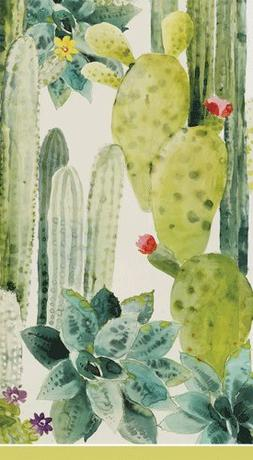 Hand Towels Bathroom Paper Towels Pierre Frey Cactus design