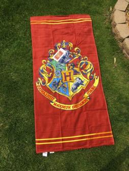 Harry Potter Crest Cotton Beach Towel NEW 28in X 58in