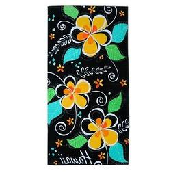 "Hawaiian Hawaii Beach / Pool / Bath Towel 60"" x 30"" ~ Blk Is"