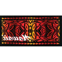Hawaiian Island Hawaii Red Tapa Style 30x60 Hawaii Cotton Be