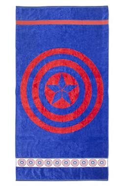 Marvel Heroes Captain America Shield 100% Cotton Terry Jacqu