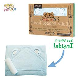 Hooded Baby Towel and Washcloth LUXURY Set | Extra Soft 600