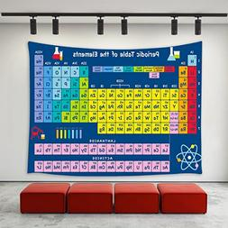 LBKT House Decor Tapestry Periodic Table by Chemistry Elemen