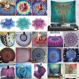 indian bohemian mandala tapestry beach hippie throw