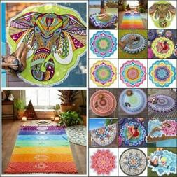 Indian Hippie Boho Tapestry Beach Throw Towel Mandala Round